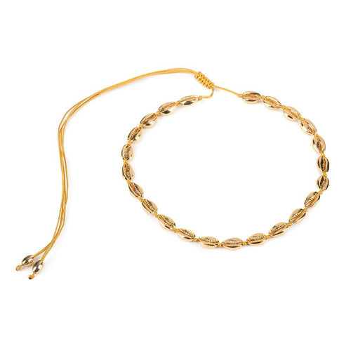 SMALL PUKA SHELL NECKLACE IN GOLD