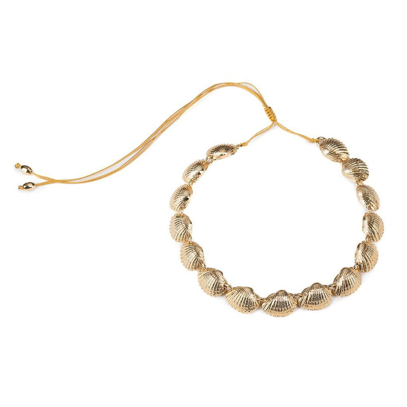 CONCHA BEACH SHELL NECKLACE IN GOLD - Tohum Design