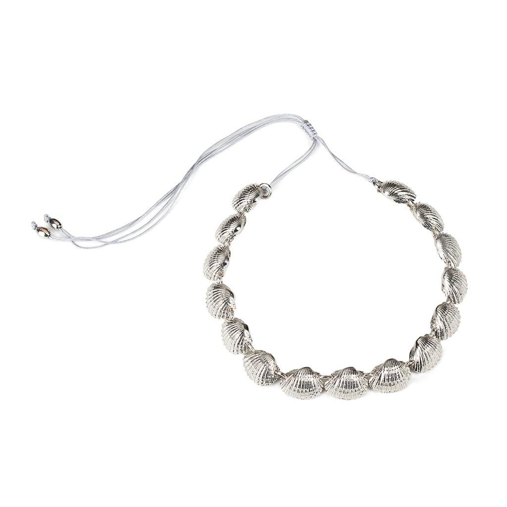 CONCHA BEACH SHELL NECKLACE IN SILVER - Tohum Design