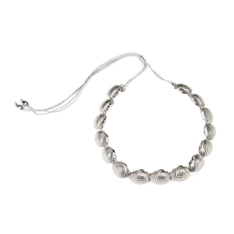 SURYA CHOKER NECKLACE WITH PENDING EGGSHAPED ROCK CRYSTAL