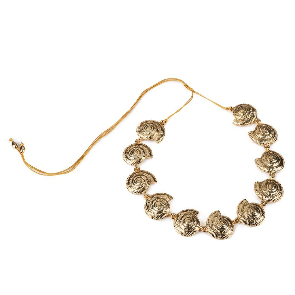CONCHA ARCHI SHELL NECKLACE SMALL IN GOLD - Tohum Design
