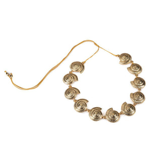 ARCHI SHELL NECKLACE SMALL IN GOLD - Tohum Design