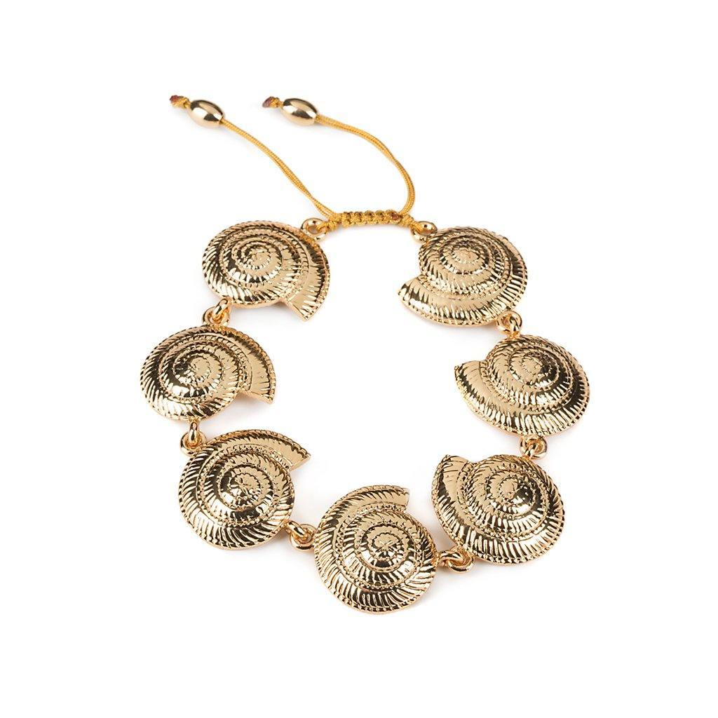 ARCHI SHELL ANKLET IN GOLD - Tohum Design