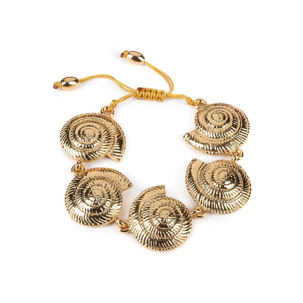 ARCHI SHELL BRACELET SMALL IN GOLD - Tohum Design
