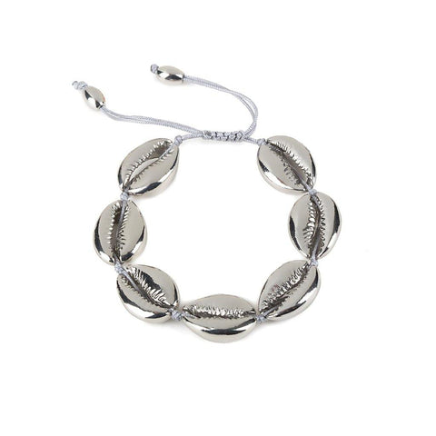 BEACH SHELL BRACELET IN SILVER