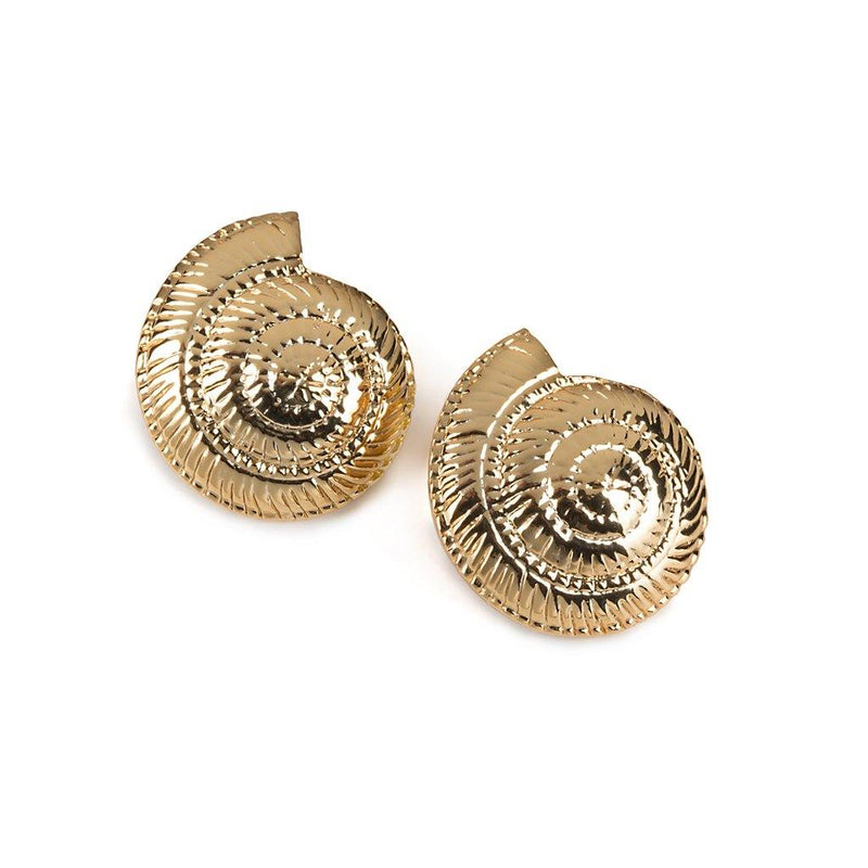 CONCHA ARCHI SHELL EARRINGS SMALL IN GOLD - Tohum Design