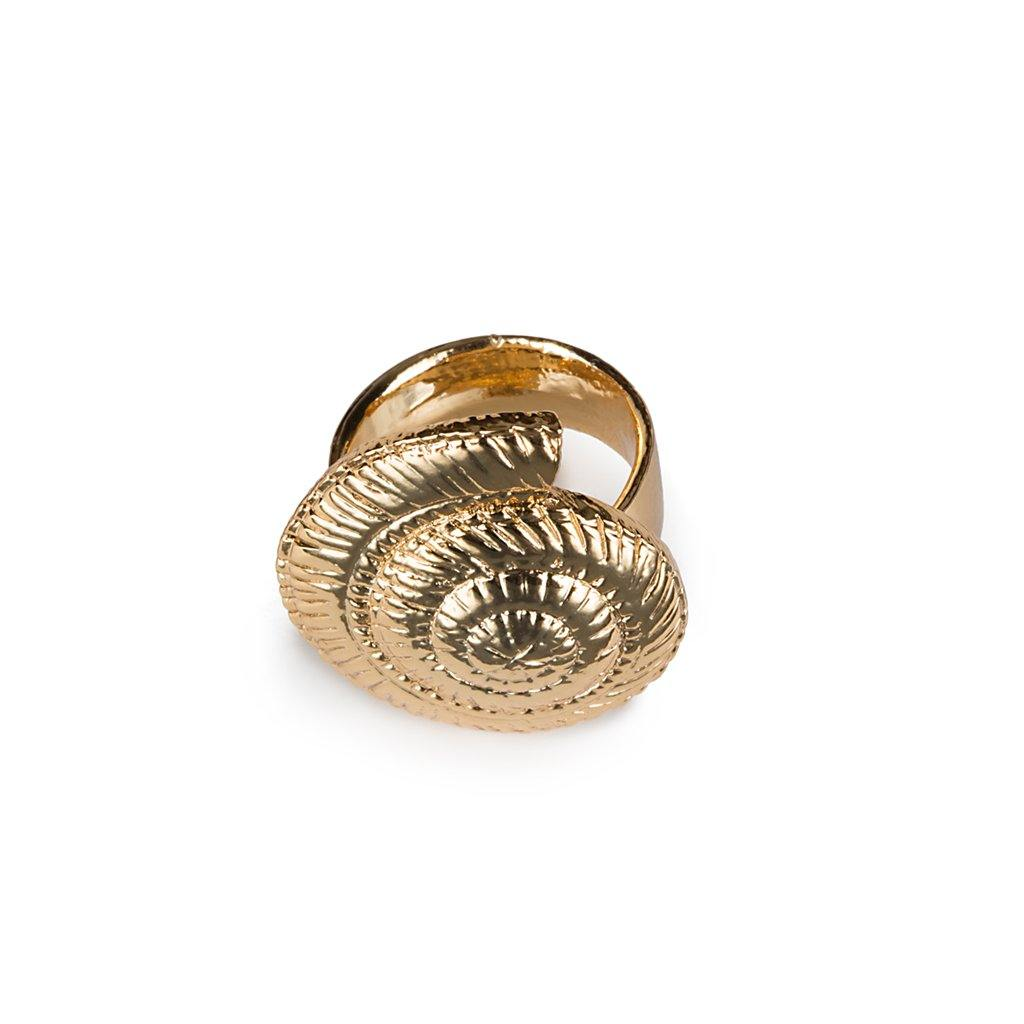 CONCHA ARCHI SHELL RING SMALL IN GOLD - Tohum Design