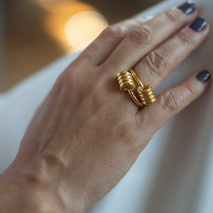 Dunya Apia Ring In Gold - Tohum Design
