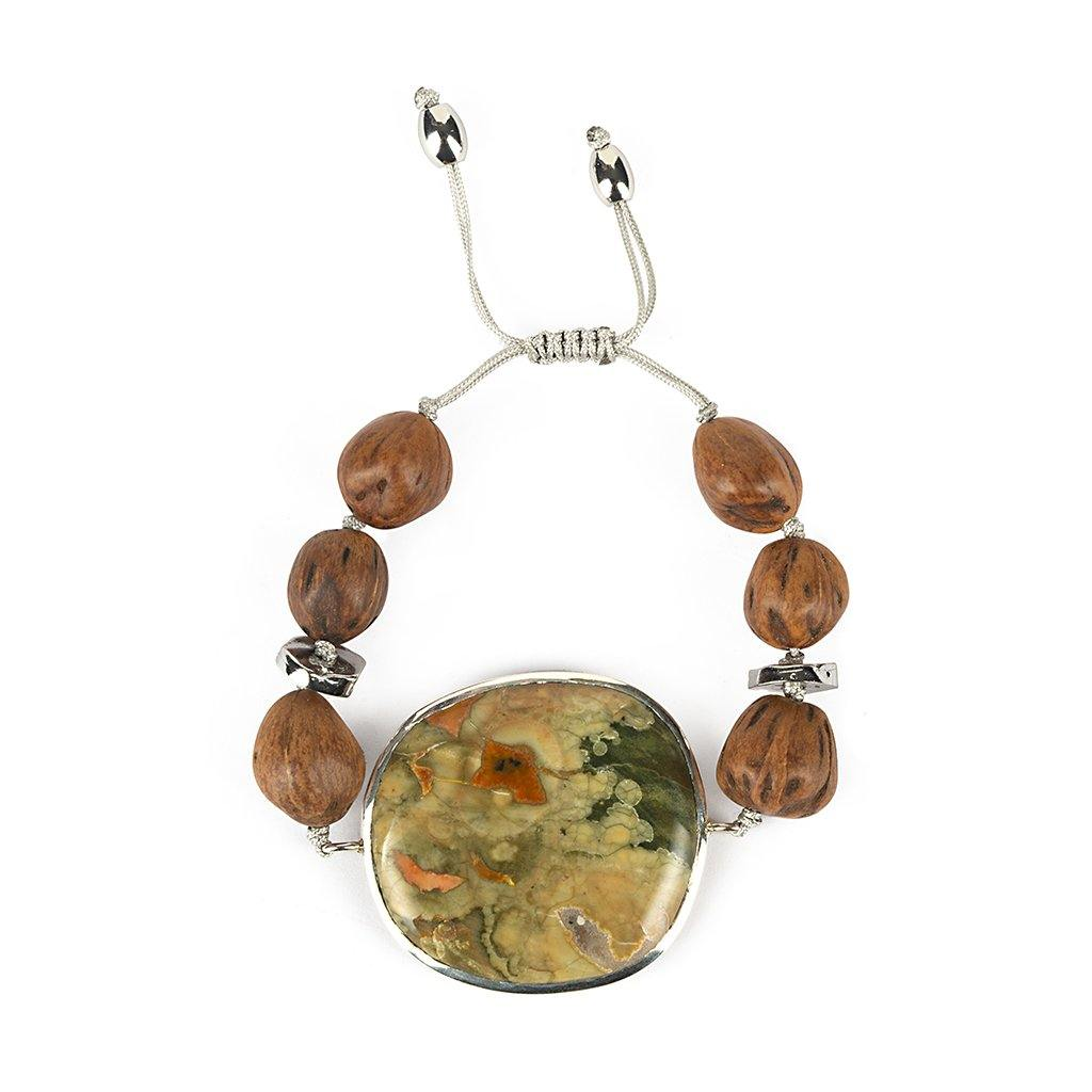 MAGICAL NATURE - BRACELET WITH RAINFOREST JASPER - Tohum Design
