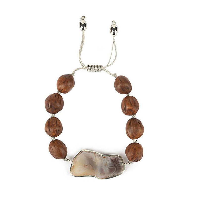 MAGICAL NATURE - BRACELET WITH AGATE STONE - Tohum Design