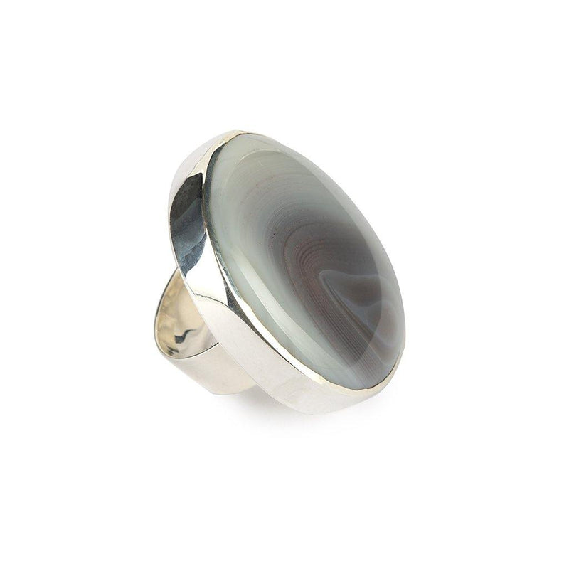 MAGICAL NATURE - RING WITH AGATE STONE - Tohum Design