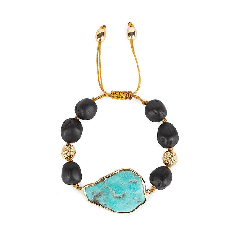 MAGICAL NATURE - BRACELET WITH TURQUOISE STONE - Tohum Design