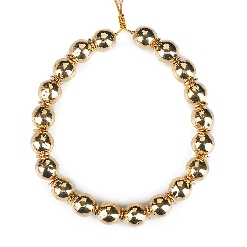 PURE LIGHT SMALL GLOBE CHOKER NECKLACE IN GOLD - Tohum Design