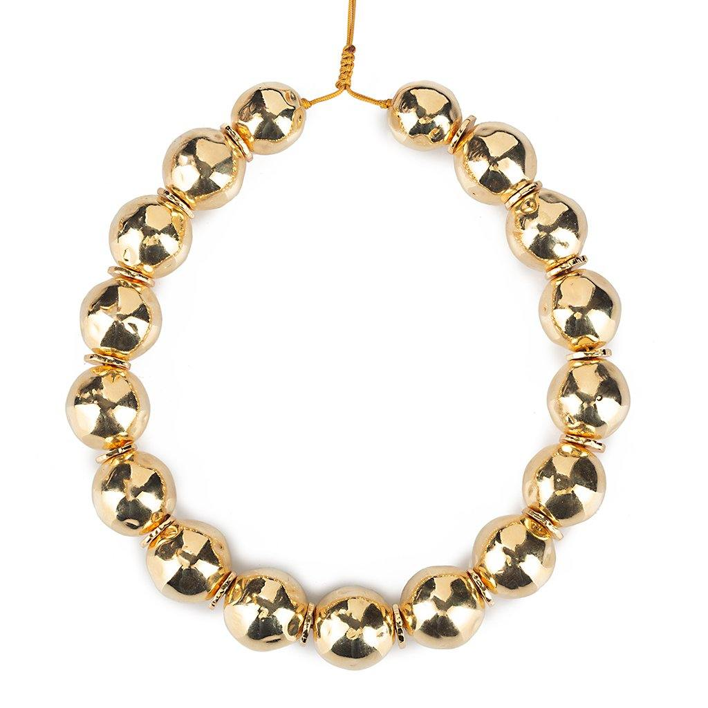 PURE LIGHT MEDIUM GLOBE CHOKER NECKLACE IN GOLD - Tohum Design