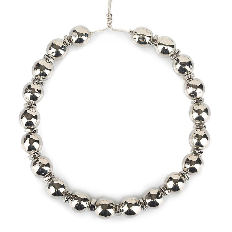 PURE LIGHT SMALL GLOBE CHOKER NECKLACE IN SILVER - Tohum Design