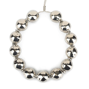 Pure Light Large Globe Choker Necklace In Silver - Tohum Design