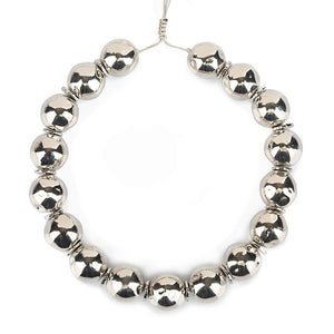 Pure Light Medium Globe Choker Necklace In Silver - Tohum Design