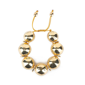 PURE LIGHT MEDIUM GLOBE BRACELET IN GOLD - Tohum Design