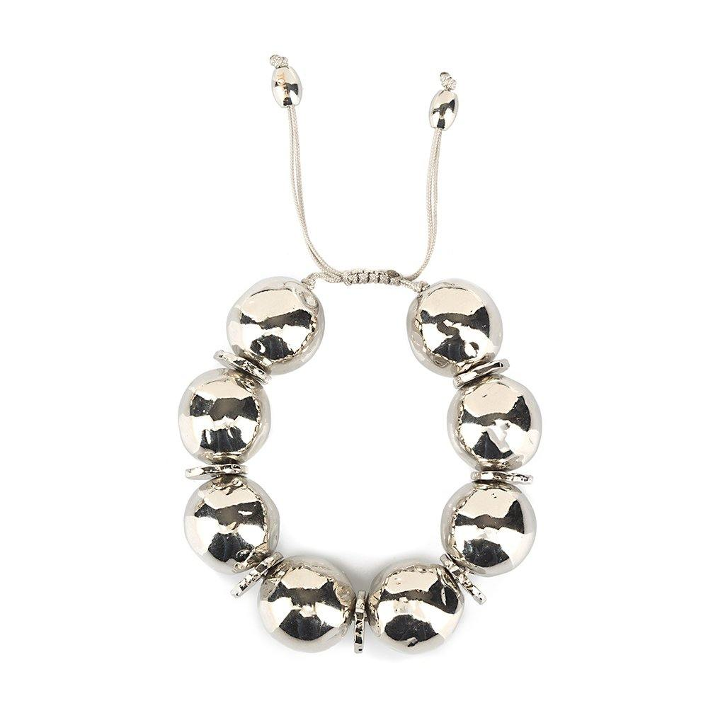 PURE LIGHT SMALL GLOBE BRACELET IN SILVER - Tohum Design