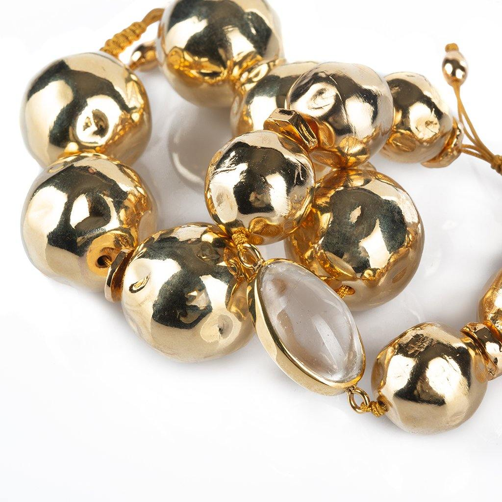 PURE LIGHT LARGE GLOBE BRACELET IN GOLD - Tohum Design