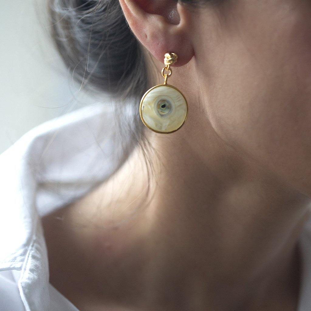 Istanbul Earrings In Gold - Tohum Design