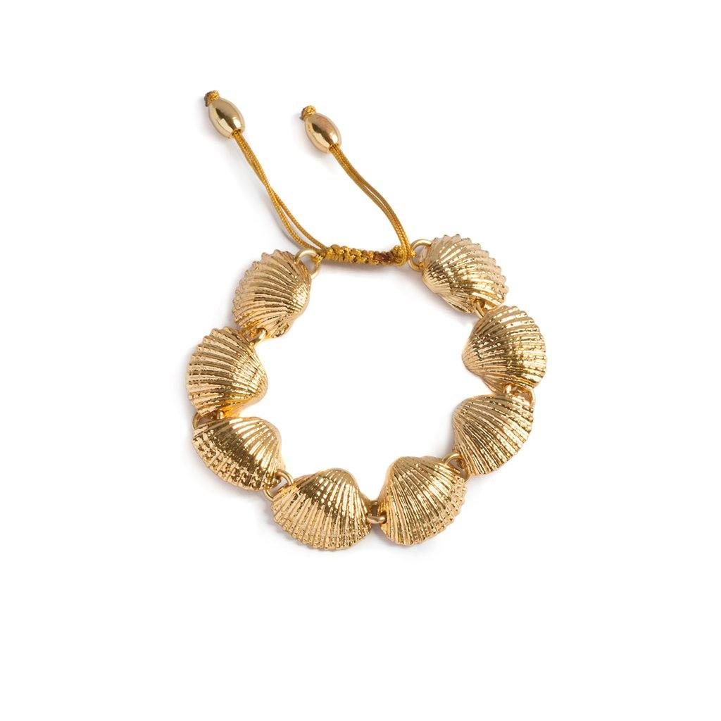 BEACH SHELL BRACELET IN GOLD - Tohum Design