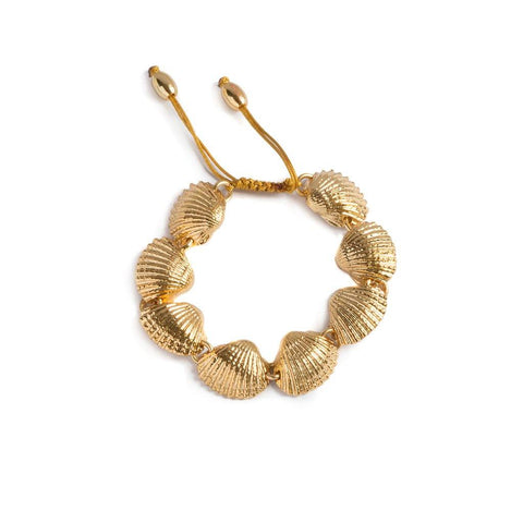 LARGE PUKA SHELL NECKLACE IN GOLD