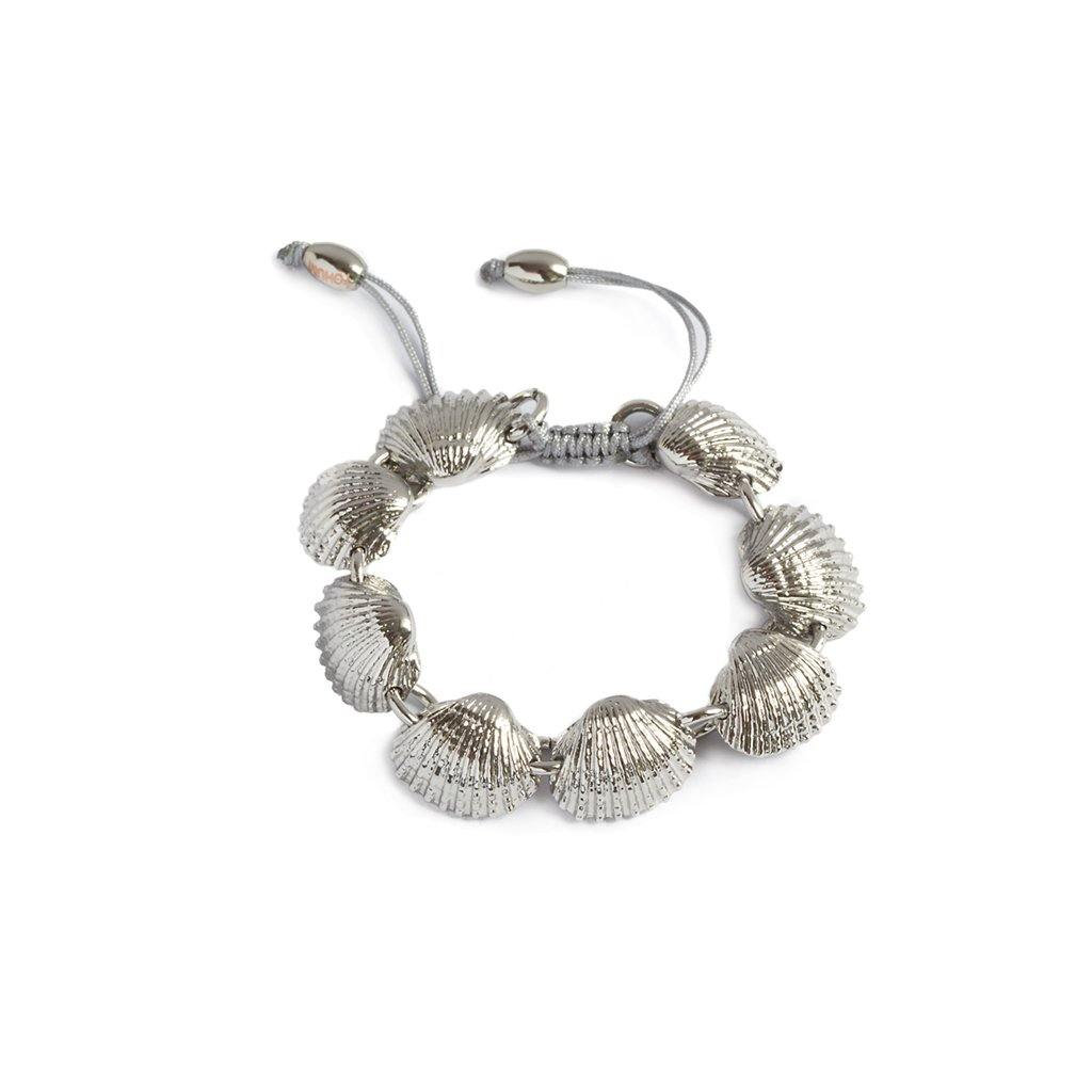 CONCHA BEACH SHELL BRACELET IN SILVER - Tohum Design