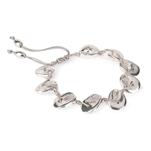 CRAB SHELL BRACELET SILVER