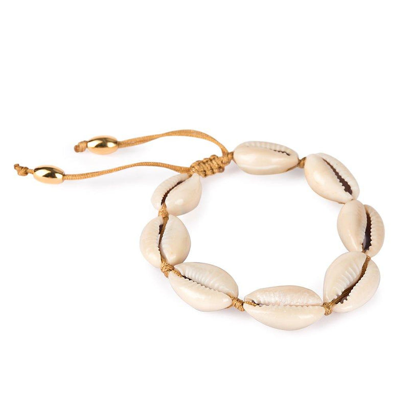 CONCHA NATURAL LARGE PUKA SHELL BRACELET - Tohum Design