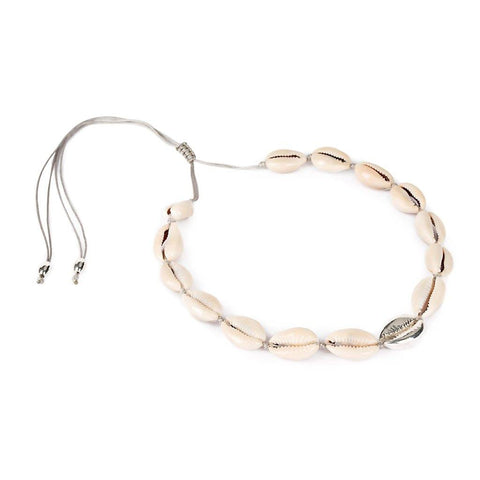 LARGE PUKA SHELL NECKLACE IN ROSE GOLD WITH NATURAL SHELL