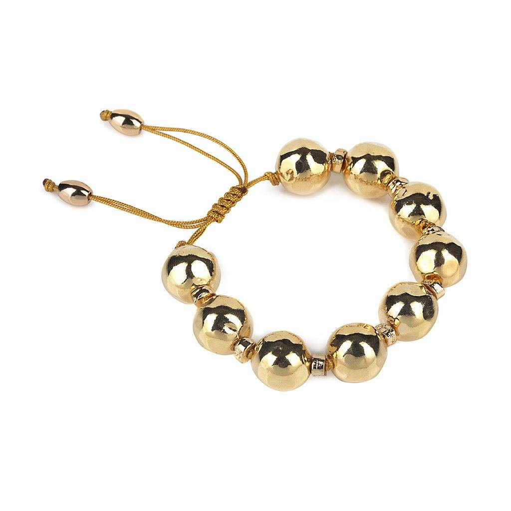 Pure Light Extra Small Globe Bracelet In Gold - Tohum Design