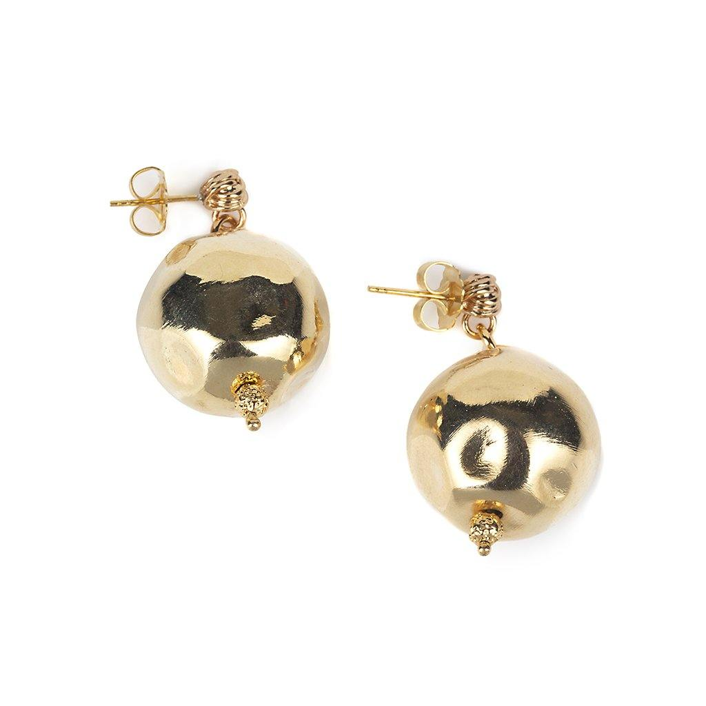 Pure Light Large Globe Earrings In Gold - Tohum Design