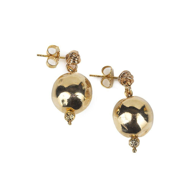 PURE LIGHT SMALL GLOBE EARRINGS IN GOLD - Tohum Design