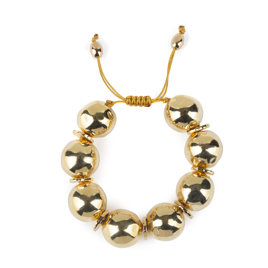 Pure Light Small Globe Bracelet In Gold - Tohum Design