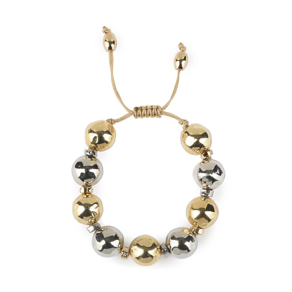 Pure Light Mix Extra Small Globe Bracelet In Gold And Silver - Tohum Design