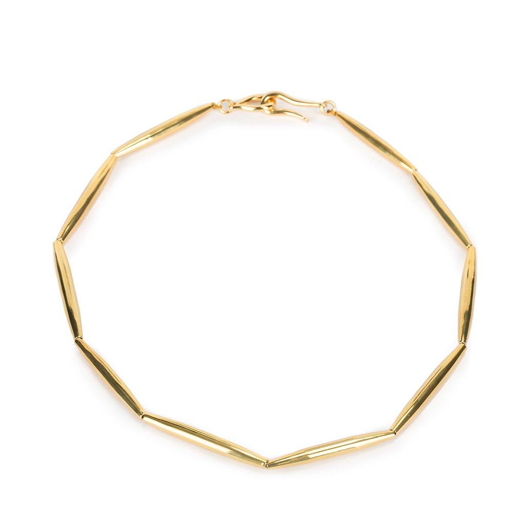 HELIA SINGLE CHAIN NECKLACE IN GOLD - Tohum Design