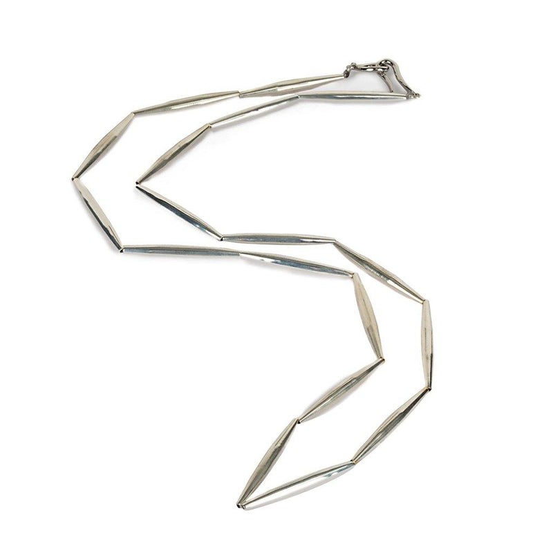LUMIA HELIA LONG CHAIN NECKLACE IN SILVER - Tohum Design