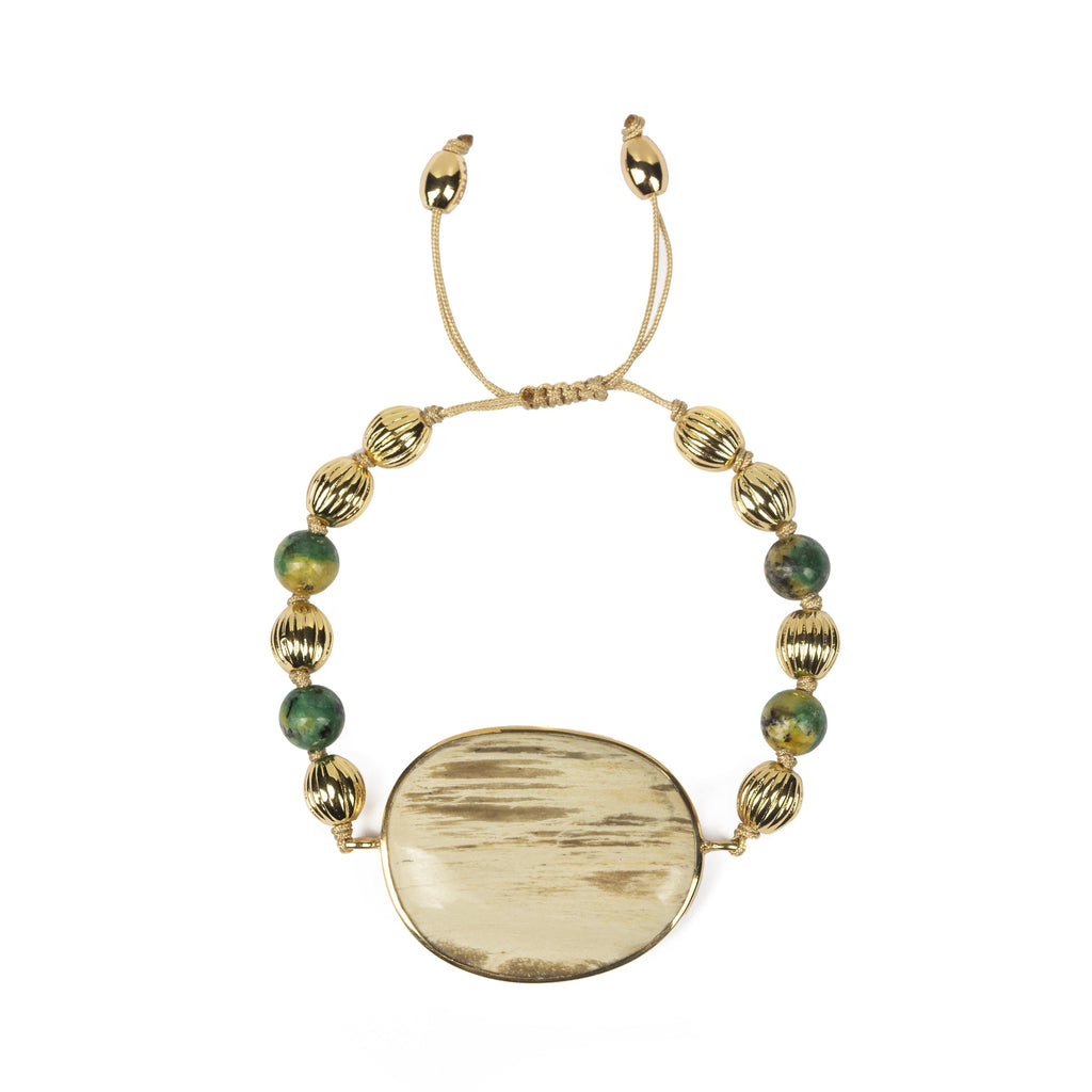 MAGICAL NATURE - BRACELET WITH PETRIFIED WOOD - Tohum Design