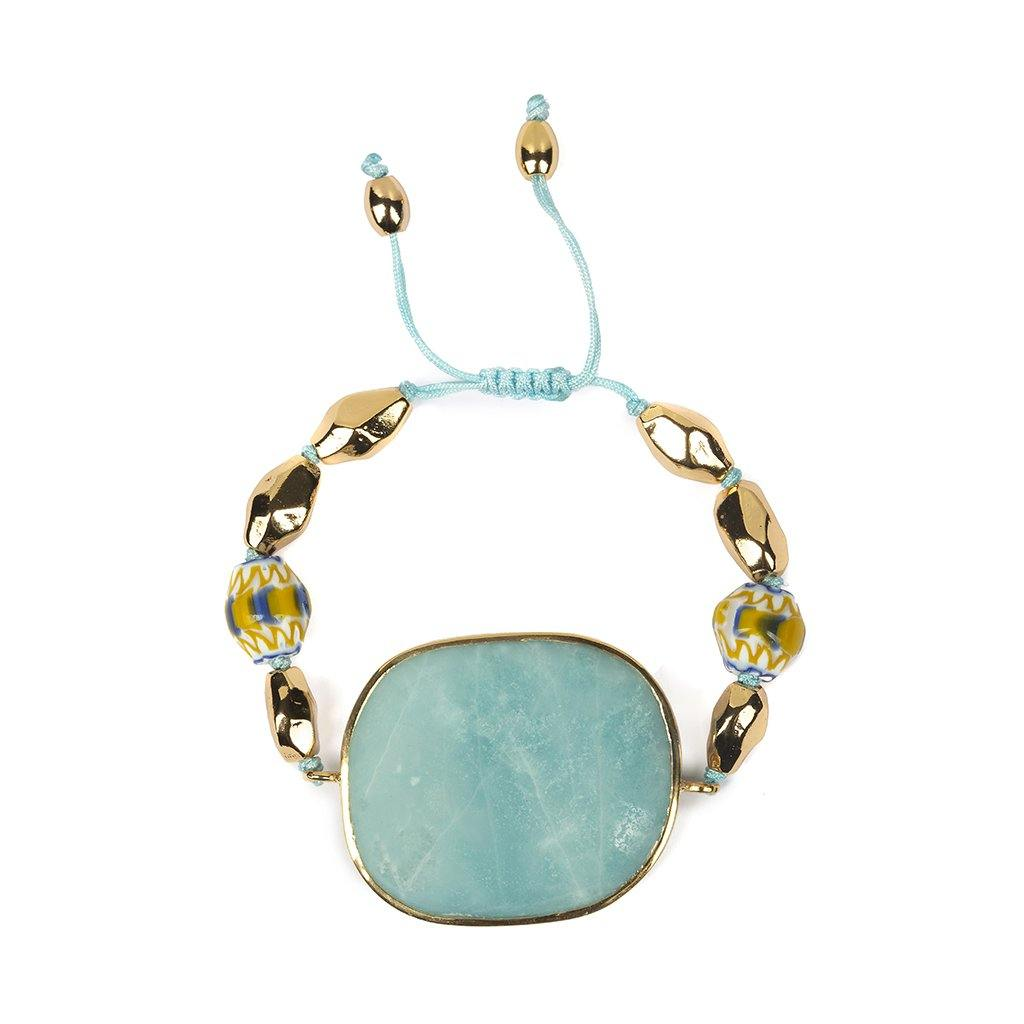 Magical Nature - Bracelet With Amazonite Stone - Tohum Design