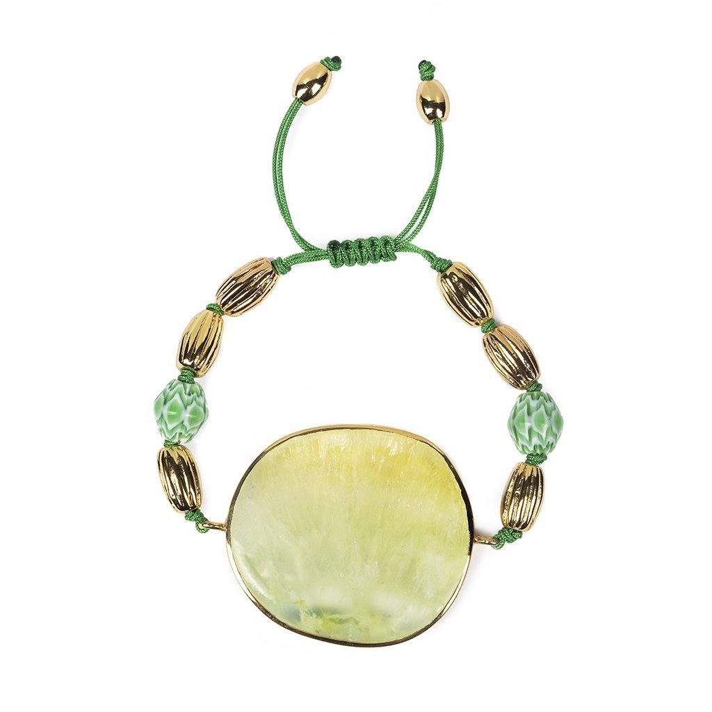 Magical Nature - Bracelet With Prehnite Stone - Tohum Design