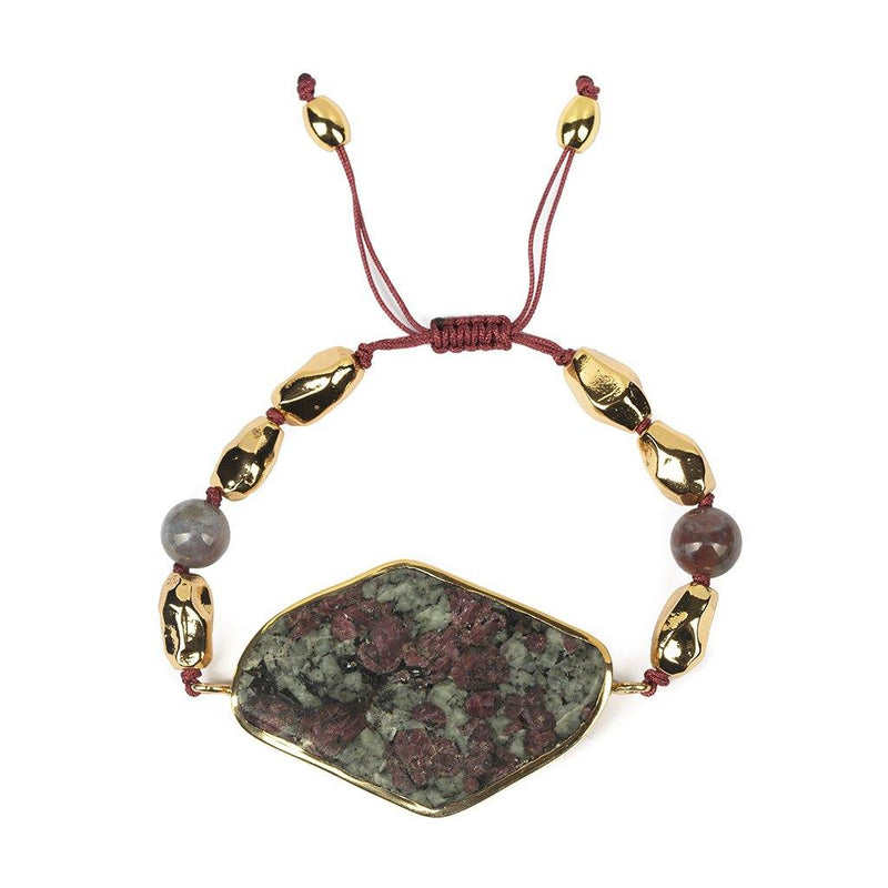 MAGICAL NATURE - BRACELET WITH JASPER STONE - Tohum Design
