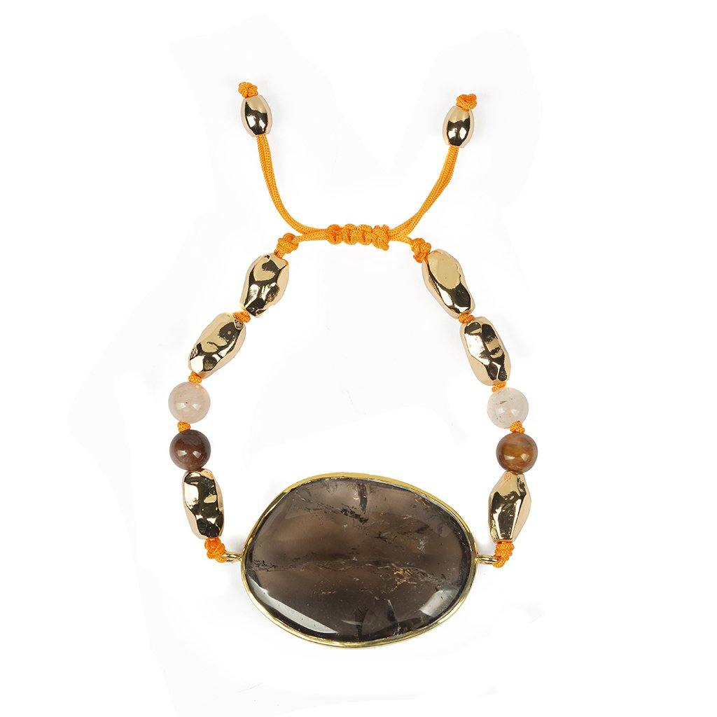 Magical Nature - Bracelet With Smoky Quartz Stone - Tohum Design