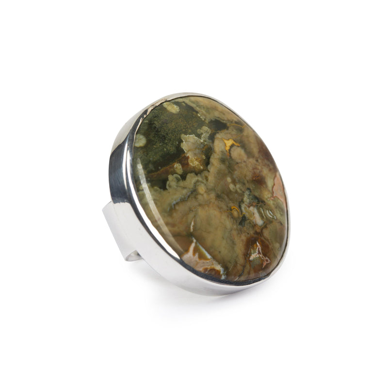 MAGICAL NATURE - RING WITH RAIN FOREST JASPER STONE - Tohum Design
