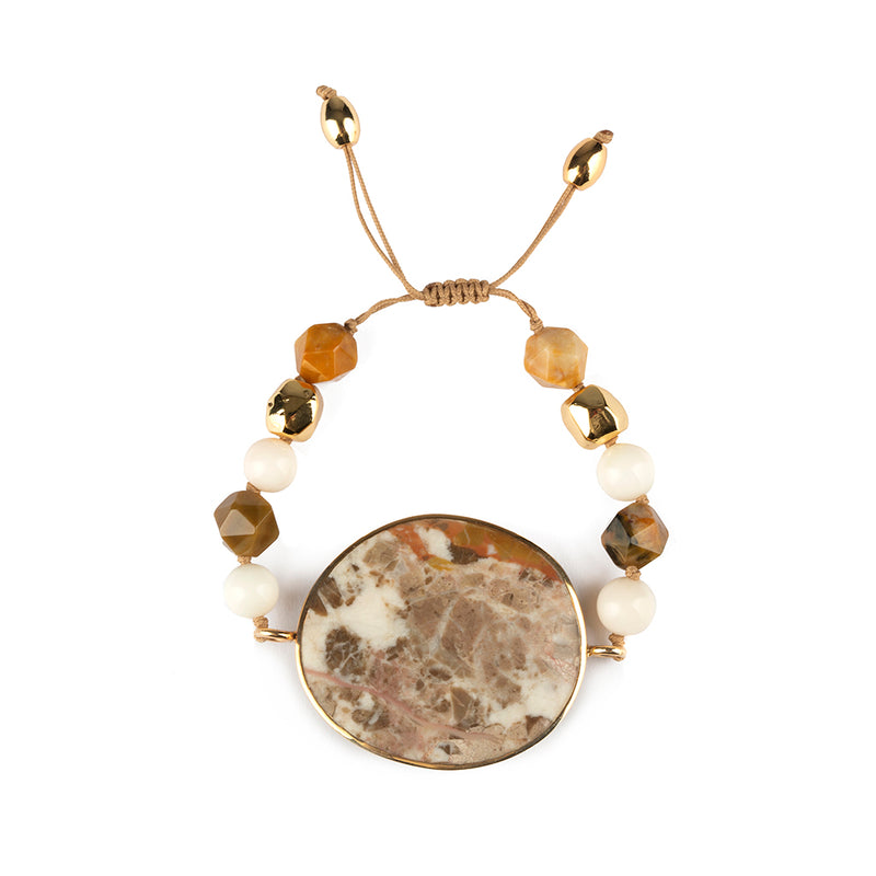 MAGICAL NATURE - ARZO MARBLE BRACELET WITH STONE - Tohum Design