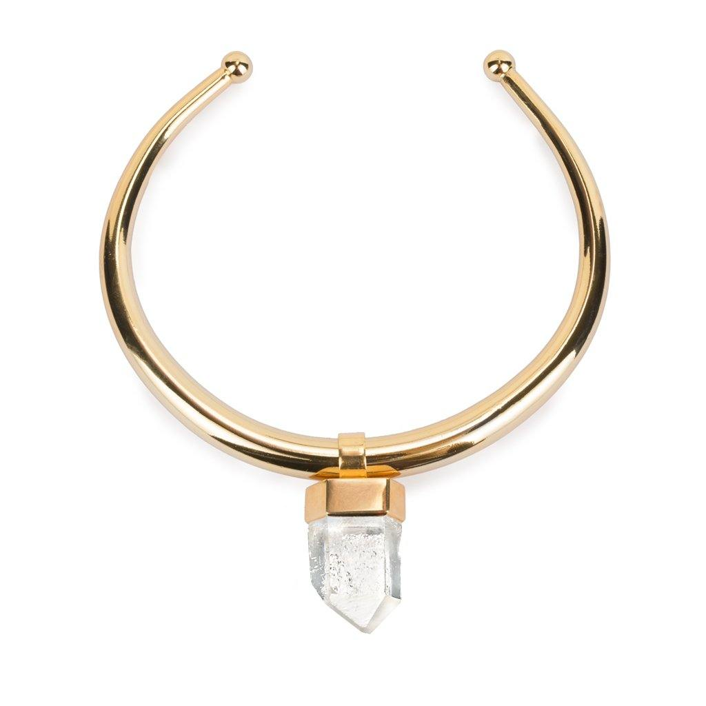 LUMIA AMUN NECKLACE IN GOLD - Tohum Design