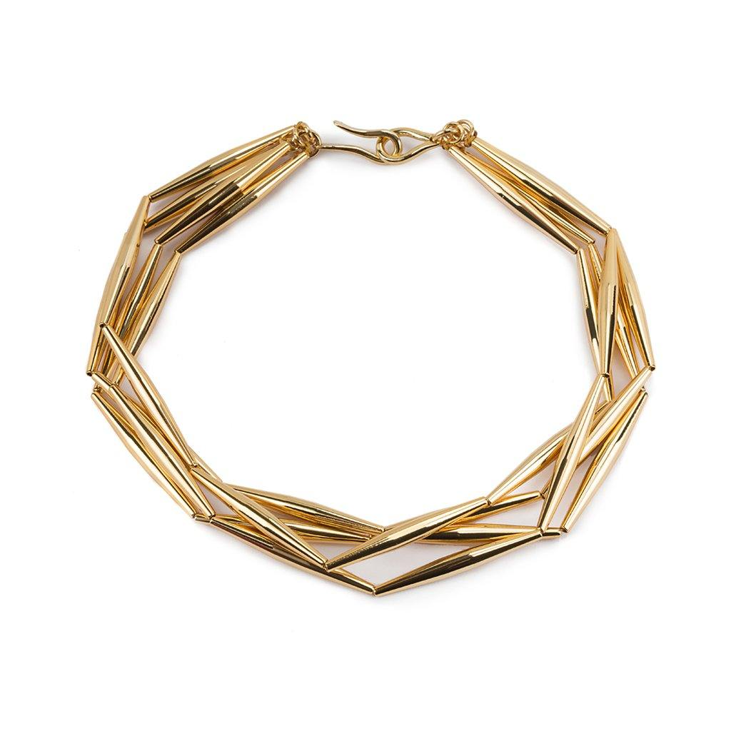 LUMIA HELIA MULTI CHAIN NECKLACE IN GOLD - Tohum Design