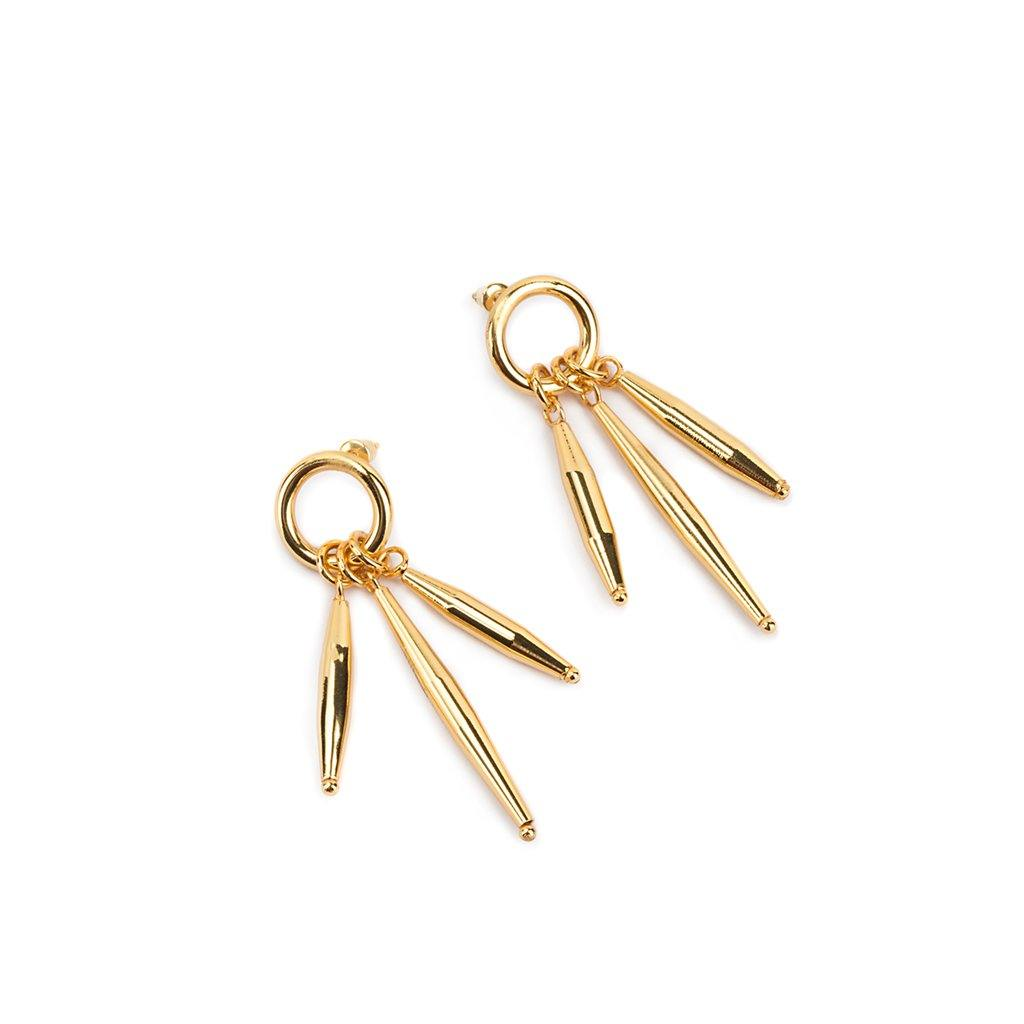 LUMIA MAIA EARRINGS I IN GOLD - Tohum Design