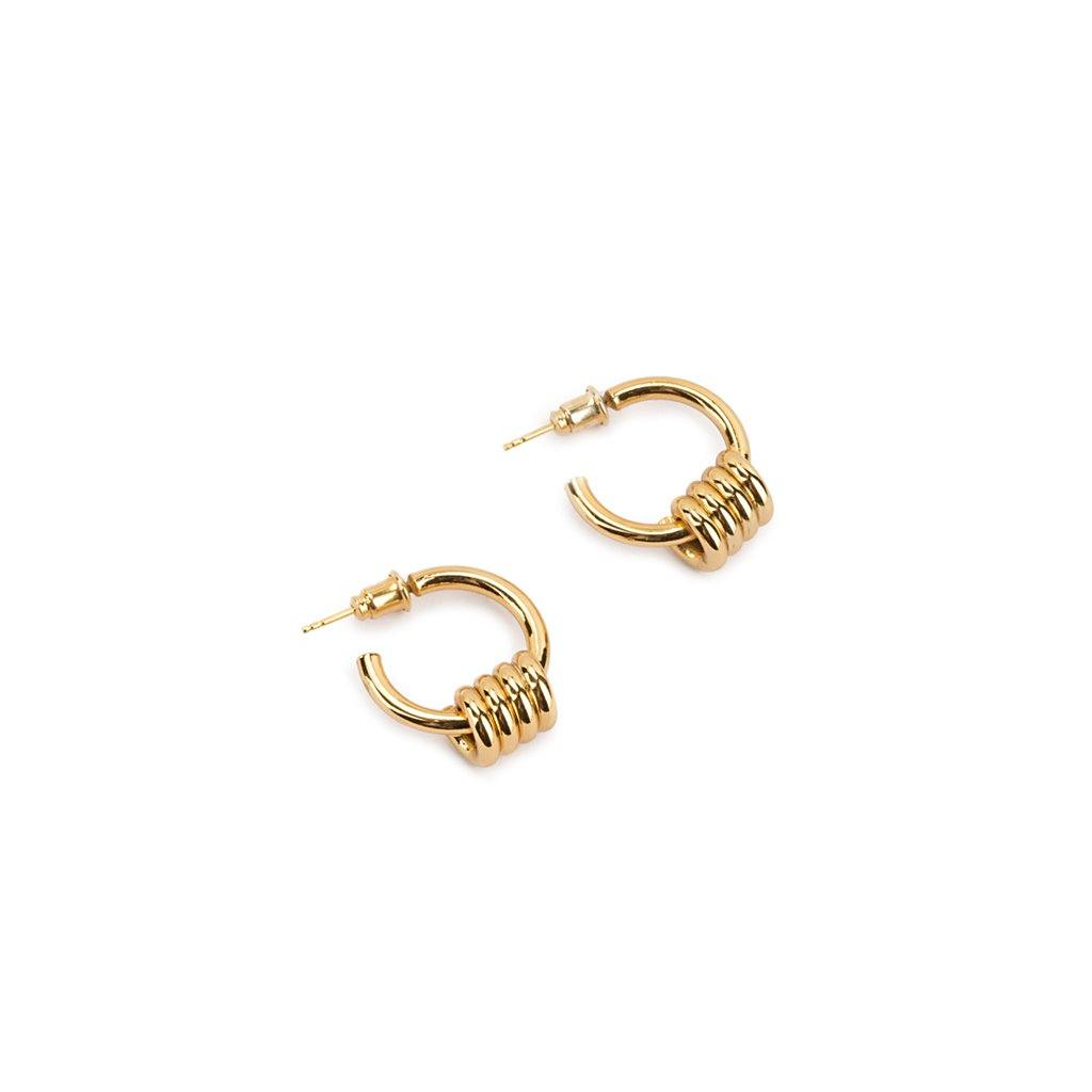 DUNYA APIA XS EARRINGS GOLD - Tohum Design