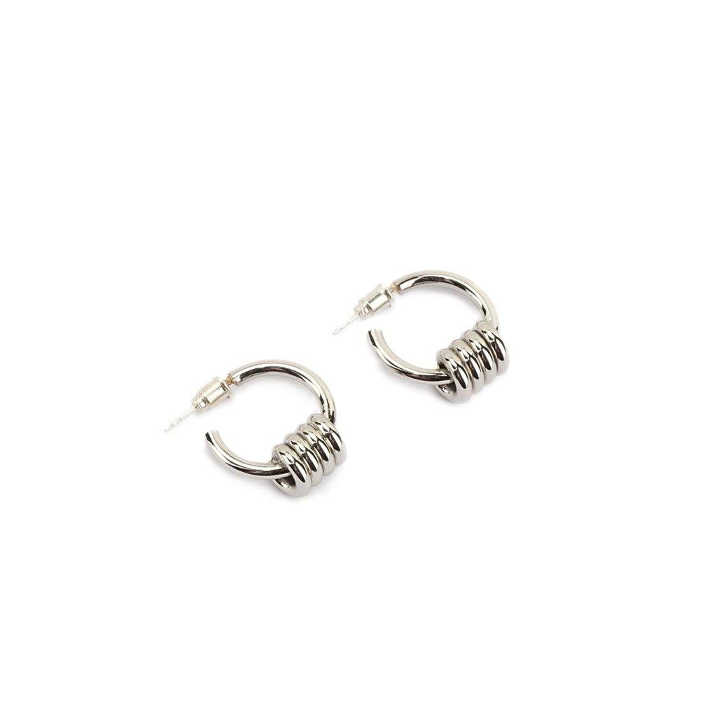DUNYA APIA XS EARRINGS SILVER - Tohum Design